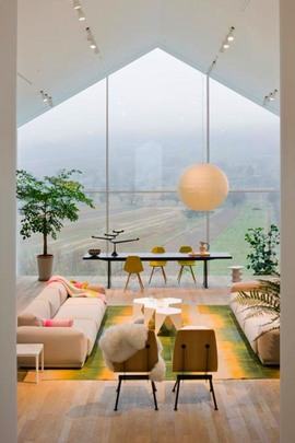 リビング,窓,ロフト,眺め